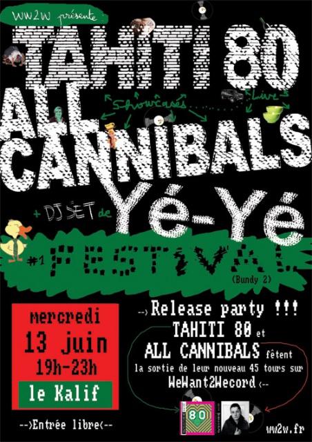 TAHITI 80 / ALL CANNIBALS - Le Kalif (13 juin 2012, Rouen) dans Plein de Live flyerafficherouenkalift