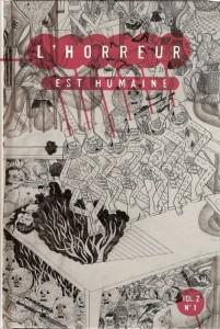 L'horreur est humaine Vol.2, N°1 (Editions Humeurs, 2008) dans Presse et Revues hh22-201x300